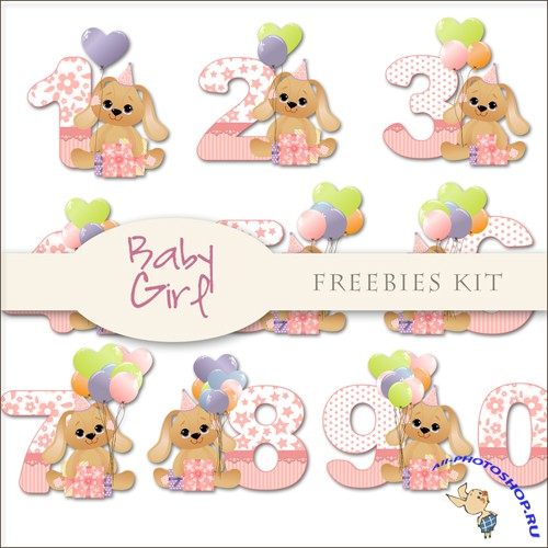 Scrap-kit - Baby Girl Alphabet