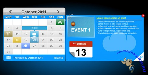 ActiveDen - XML Calendar Events with Tool Tips & Custom Icons (Incl FLA) - Rip
