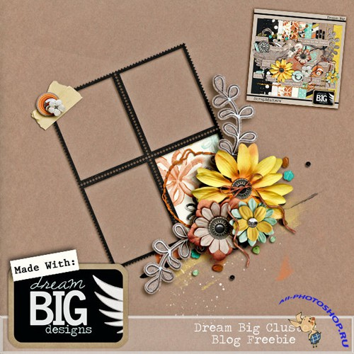 Cluster Frame - Dream Big Flowers