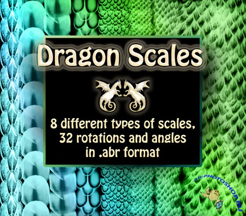 Dragon scales brush set
