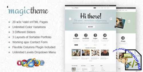 ThemeForest - MagicTheme xHTML/CSS Template - Rip