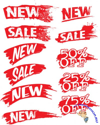 Discounts Stickers Vector