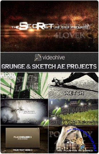 Grunge & Sketch Style After Effects Projects
