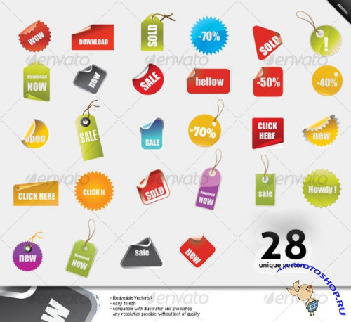 GraphicRiver - Badges, tags, seals and banners ( vector )