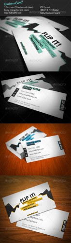 GraphicRiver - FLIP IT! Business Card