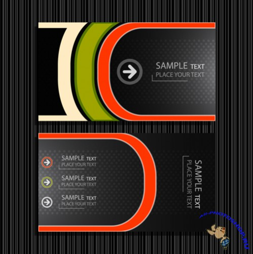 Vector Business Cards - Personalized Fashion Classic