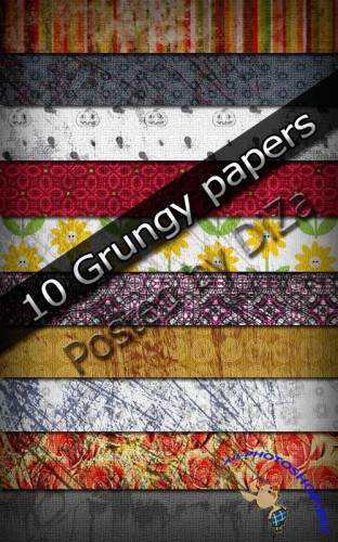 10 Grungy papers