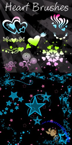 Heart Brushes and Star brushes