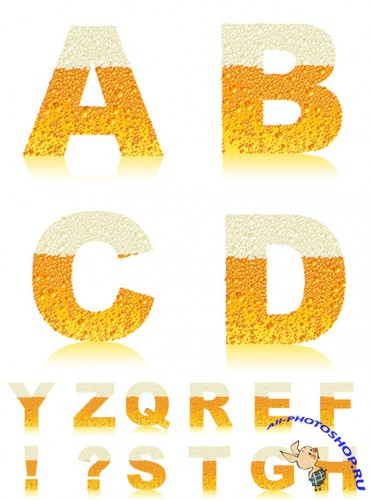 Letters of Beer Vector