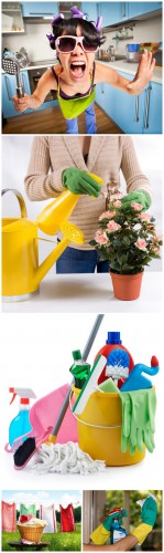 Household Chores - Household chores, laundry, cleaning, kitchen, flowers