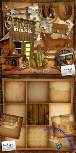 Scrap-set - Wild West by Indigo Designs