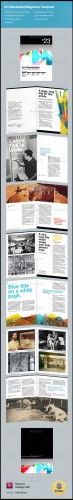 GraphicRiver - Art Themed Newsletter/Magazine Template
