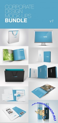Corporate Design Mockups Bundle v1