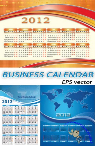 Бизнес-календарь | Business-calendar (EPS vector)