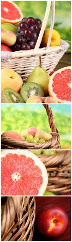 Photo Cliparts - Fruit in basket