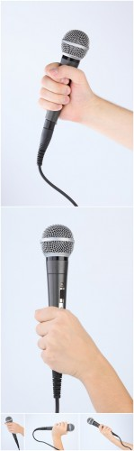 Photo Cliparts - Microphone in hand