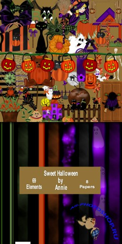 Scrap-set - Sweet Halloween
