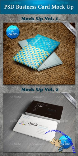 PSD Template - Business Card Mock-Up Vol 1 & 2