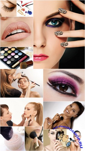 Make-Up Cliparts - Make-up, person, woman, cosmetics