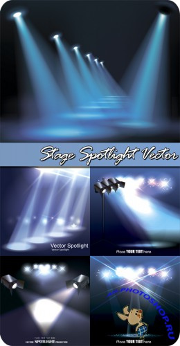 Stage Spotlight Vector