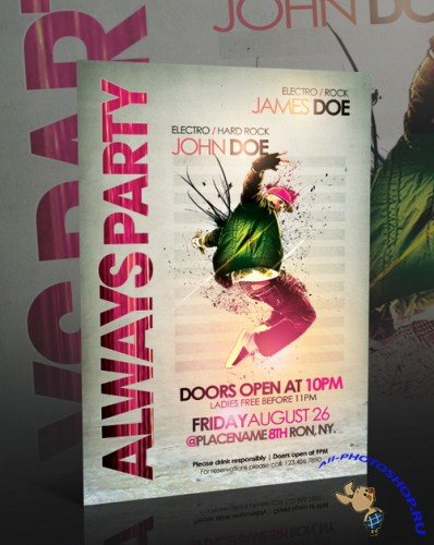 Always Party Flyer Template