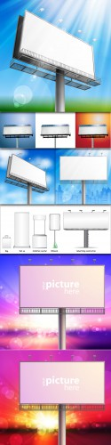 Outdoor Billboards Vector