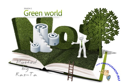 PSD File Green World
