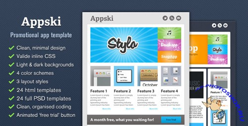Themeforest - Appski - App Promotional Email Template - RIP