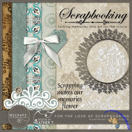 Scrap-set - Memories Flower