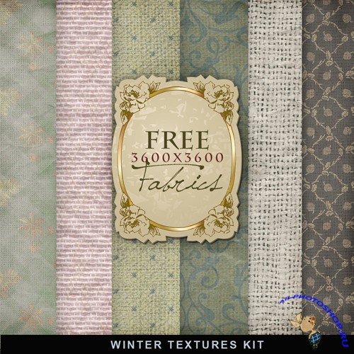 Textures - Winter Fabric Backgrounds #3