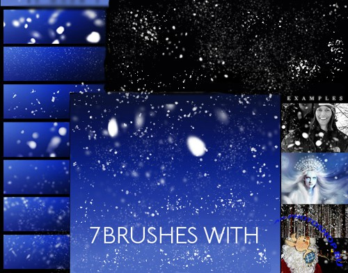 Winter SnowFlake Brushes for PhotoShop