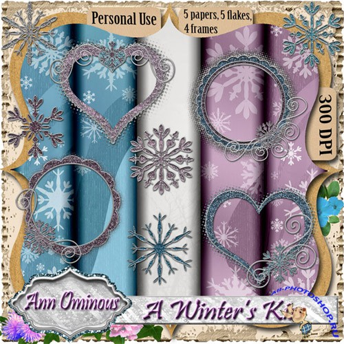 Scrap-set - Winters Kiss