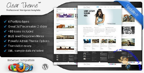 ThemeForest - Clear Theme - Multipurpose WordPress Theme v1.3