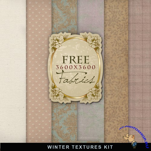 Textures - Winter Fabric Backgrounds #4