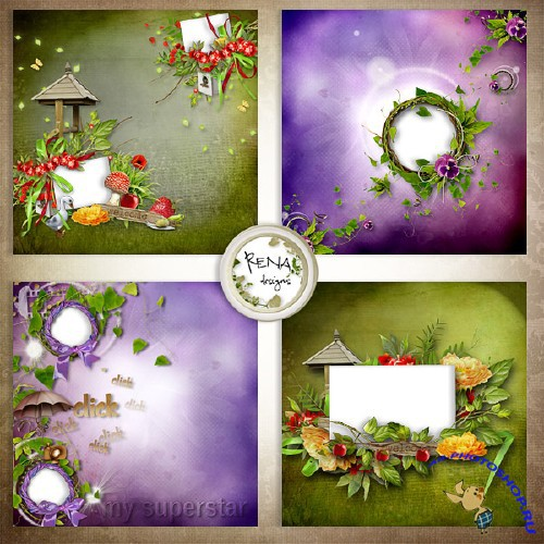 Quick-pages - Collections Frames With Flowers - 1