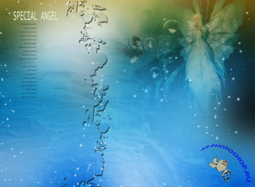 Dream Angels romantic photo PSD layered template