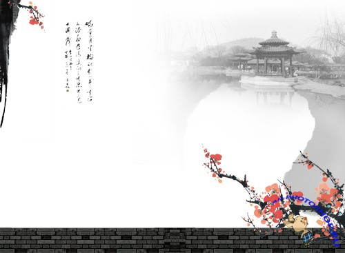 Background of classical Chinese elements layered PSD template