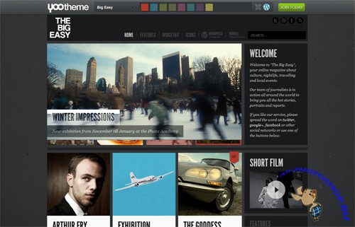YooTheme - Big Easy v1.0.1 - Nov 2011 Theme For Wordpress
