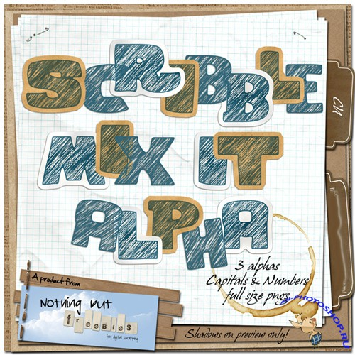 Scrap-kit - Scribble Mix It Alpha
