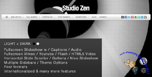 ThemeForest Studio Zen Fullscreen Portfolio WordPress Theme v1.0.3