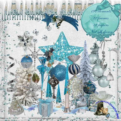 Scrap-set - Blue And Silver Christmas