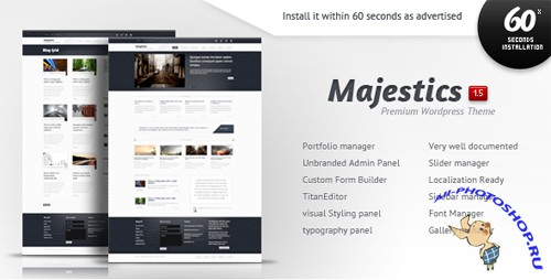 Themeforest Majestics - Premium Wordpress Theme v1.5