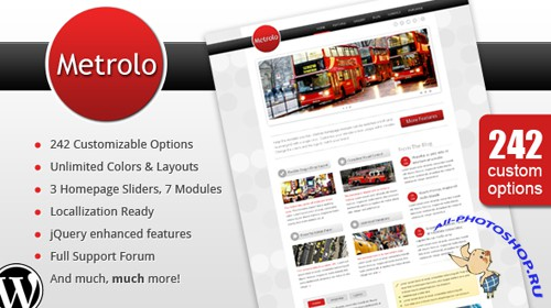 Mojothemes Metrolo – Powerful and Flexible WordPress Theme