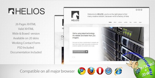 ThemeForest - Helios - Minimalist Business Template 7 - (Full Rip)