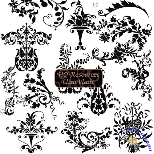 Damask pattern Brushes