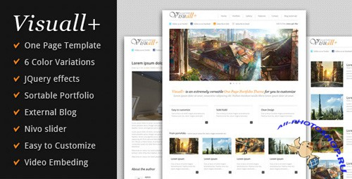 ThemeForest - Visuall+ One Page Portfolio - Rip
