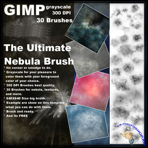 The Ultimate Nebula Brushes for GIMP