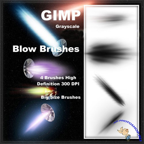 Blow Brushes for GIMP