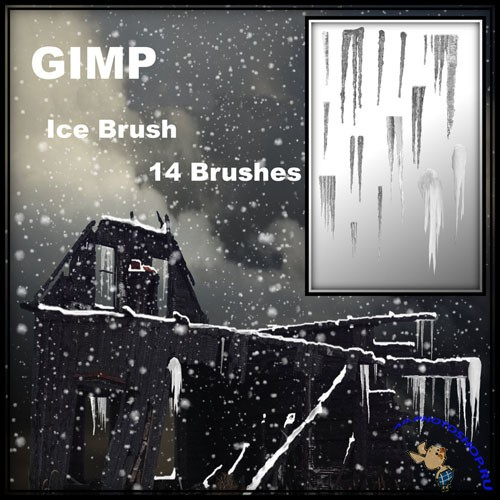 Ice Brushes for GIMP