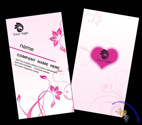 Wedding etiquette companys business card template